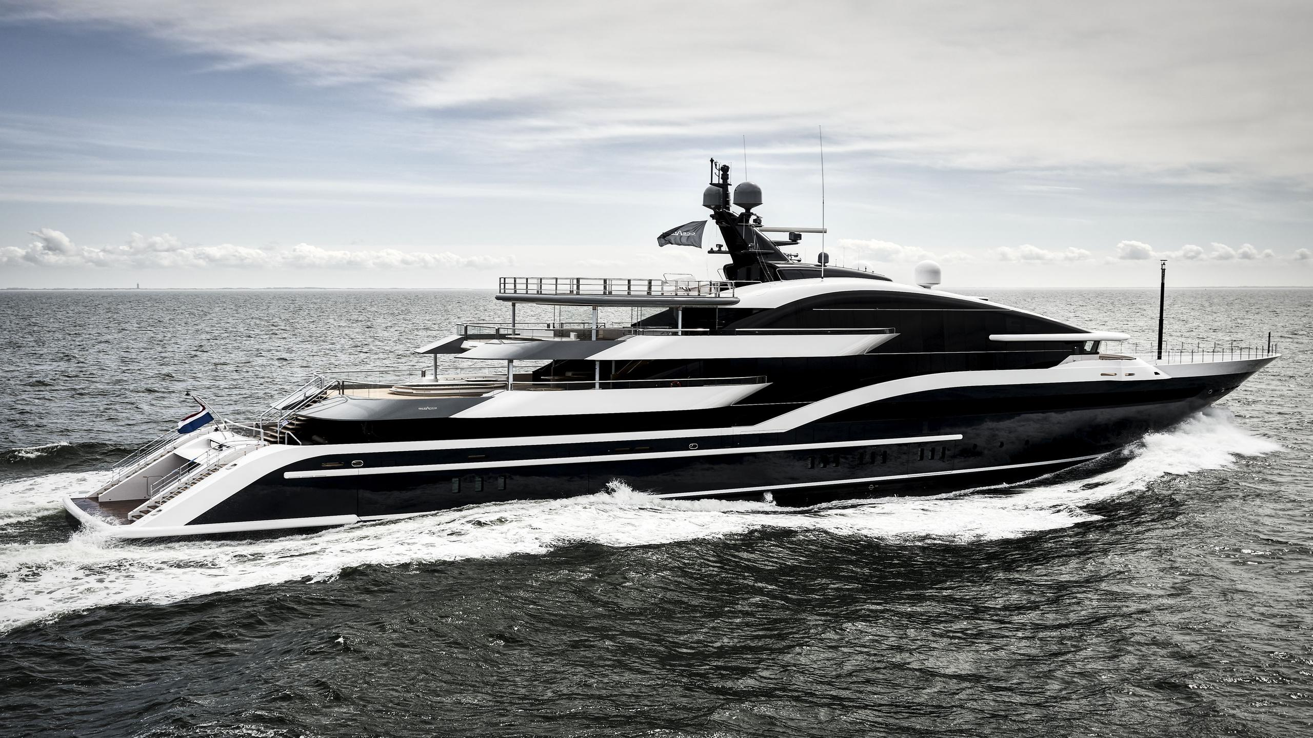 dar project shark y717 motoryacht oceanco 90m 2018 sea trials profile