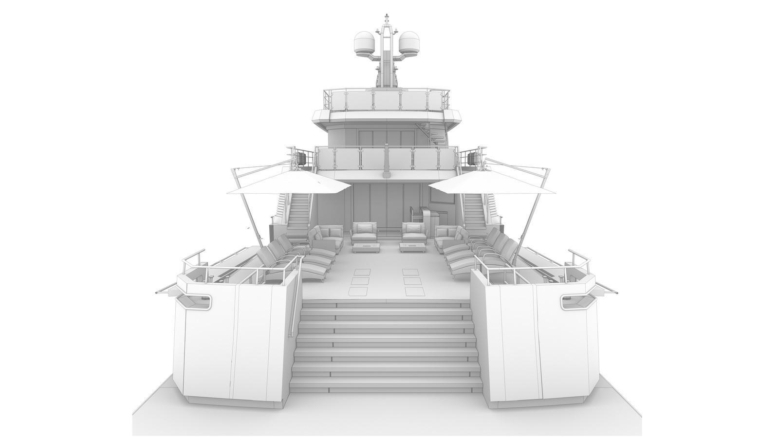 aurelia 29 motoryacht cantiere delle marche 40m 2020 rendering stern