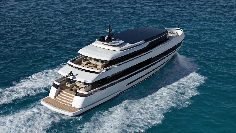 extra 126 motoryacht isa yachts 38m 2019 rendering half stern