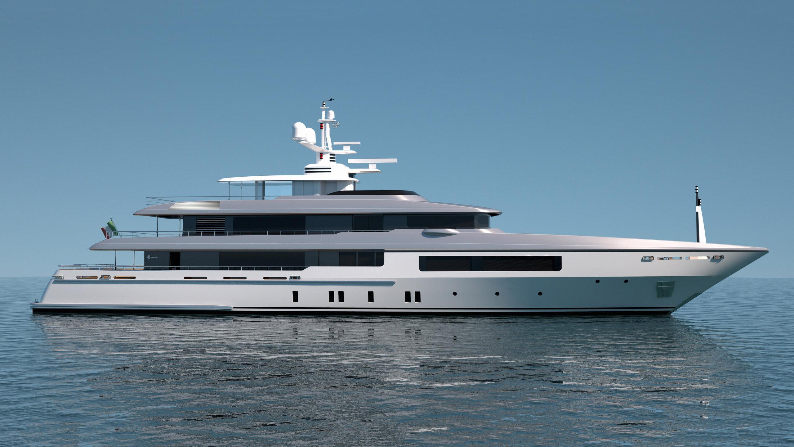 c133 motoryacht codecasa 55m 2020 rendering