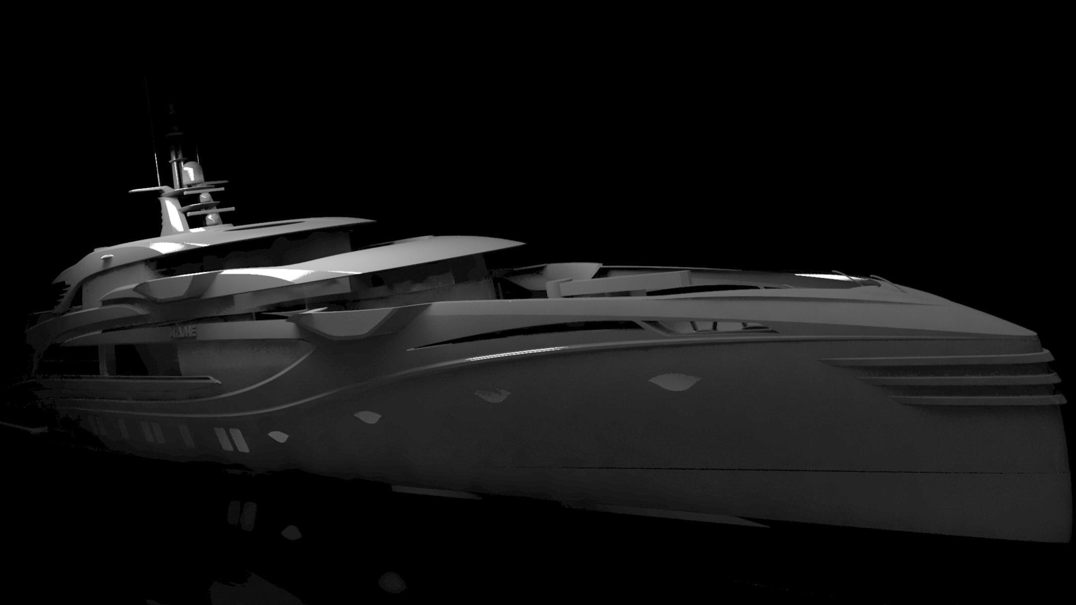 project phi motoryacht royal huisman 55m 2021 rendering