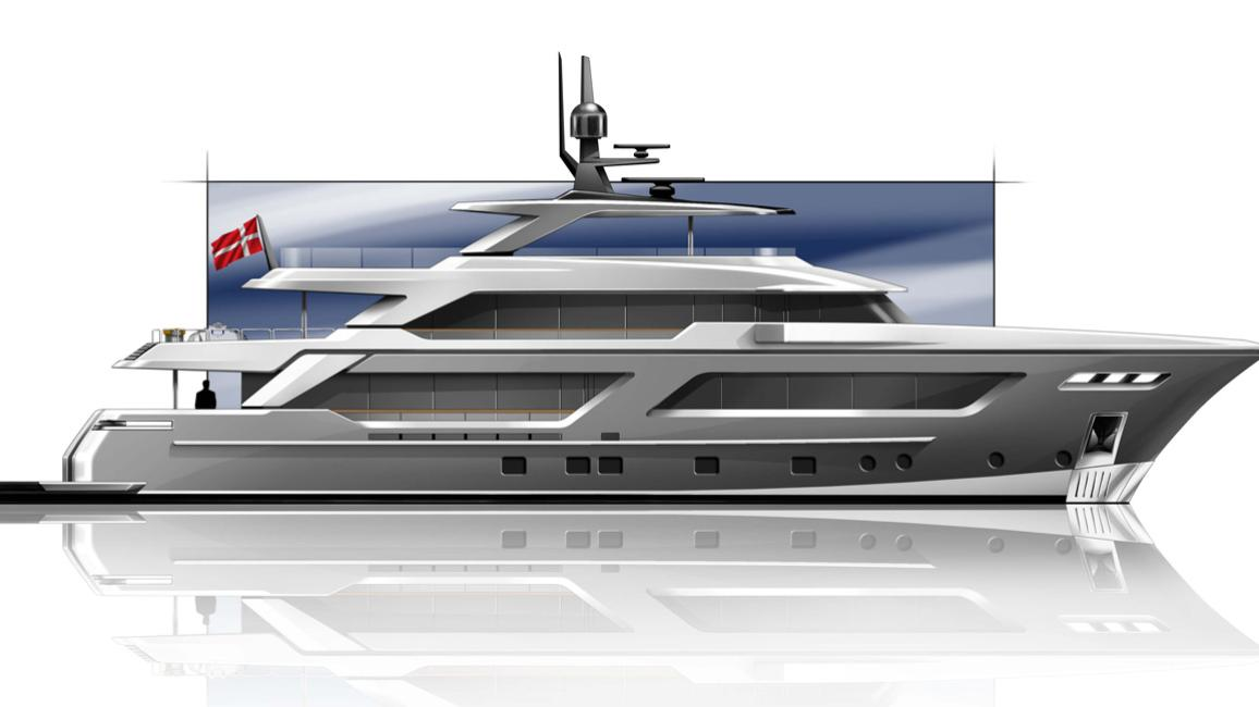 mg129 motoryacht cantiere delle marche 40m 2020 rendering
