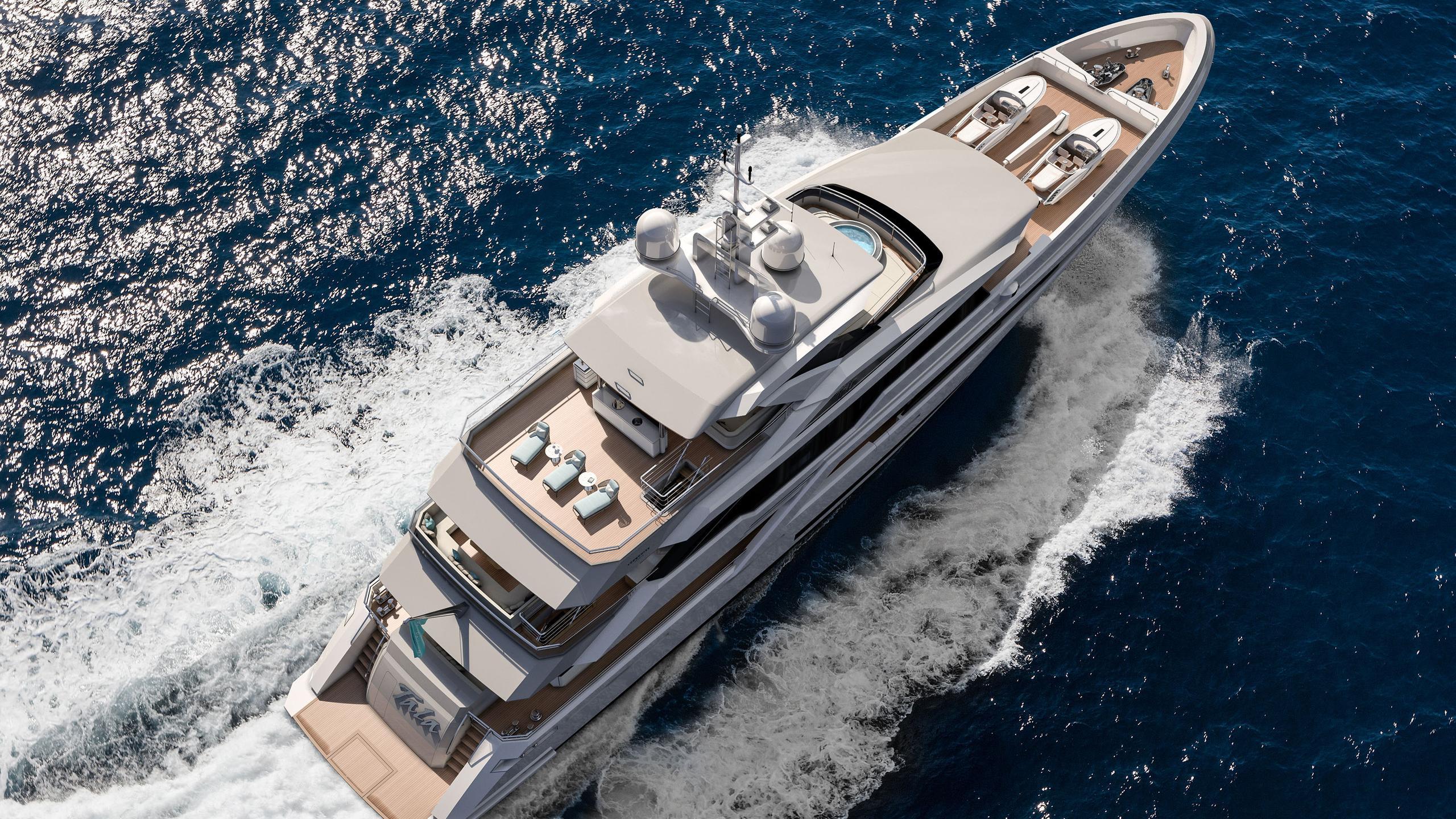 tala motoryacht turquoise yachts 53m 2020 rendering aerial