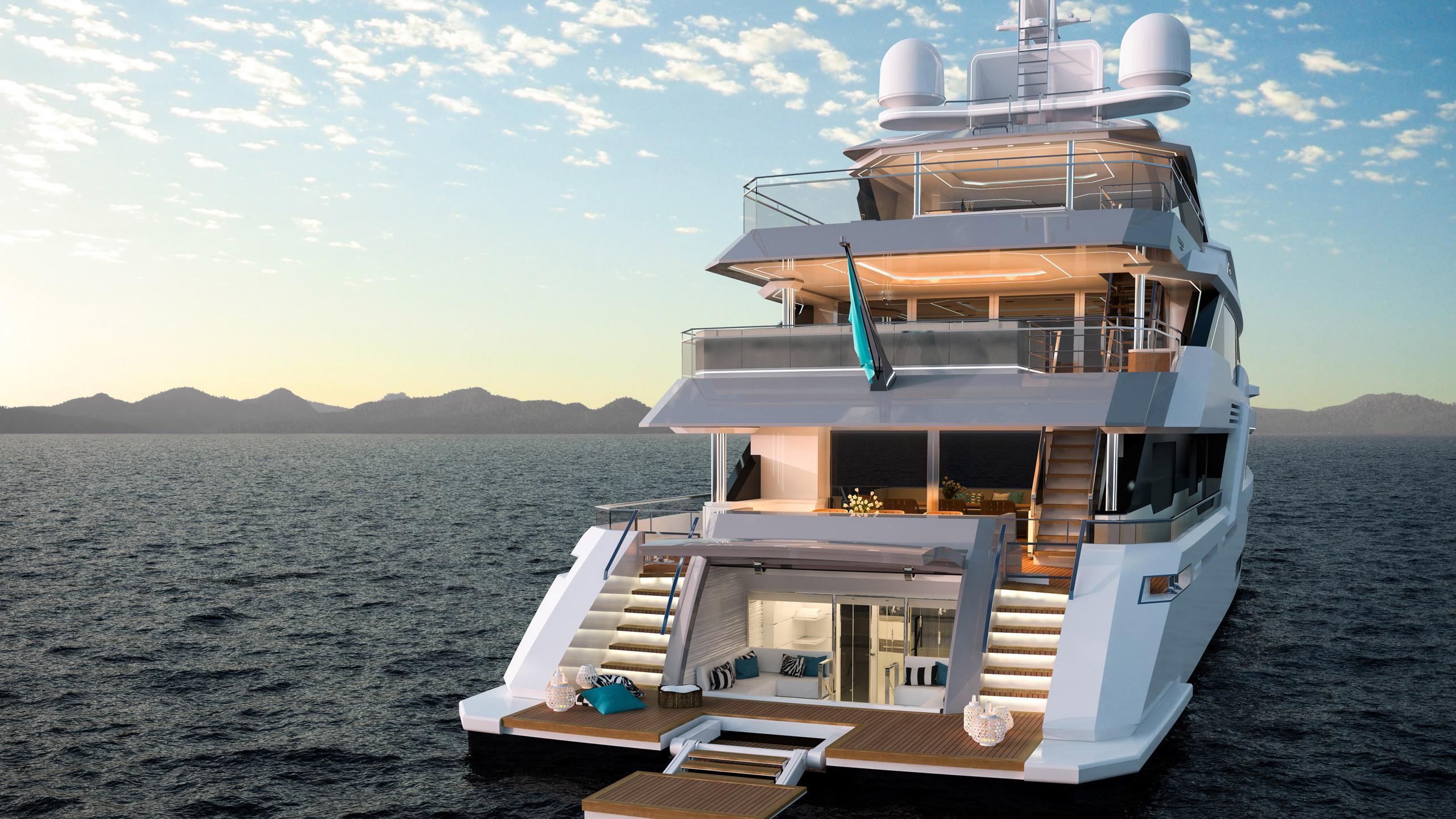 tala motoryacht turquoise yachts 53m 2020 rendering stern