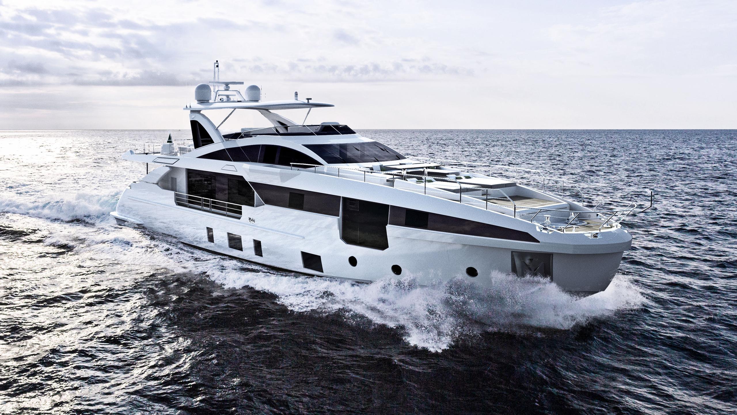grande 32 metri motoryacht azimut yachts 32m 2018 rendering sistership