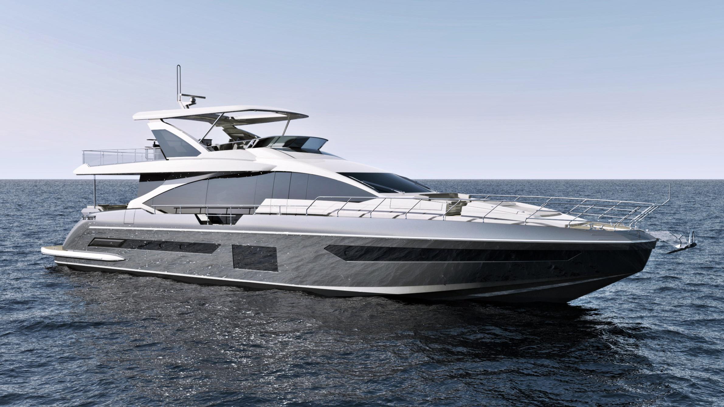 grande 25 metri motoryacht azimut yachts 26m 2018 rendering