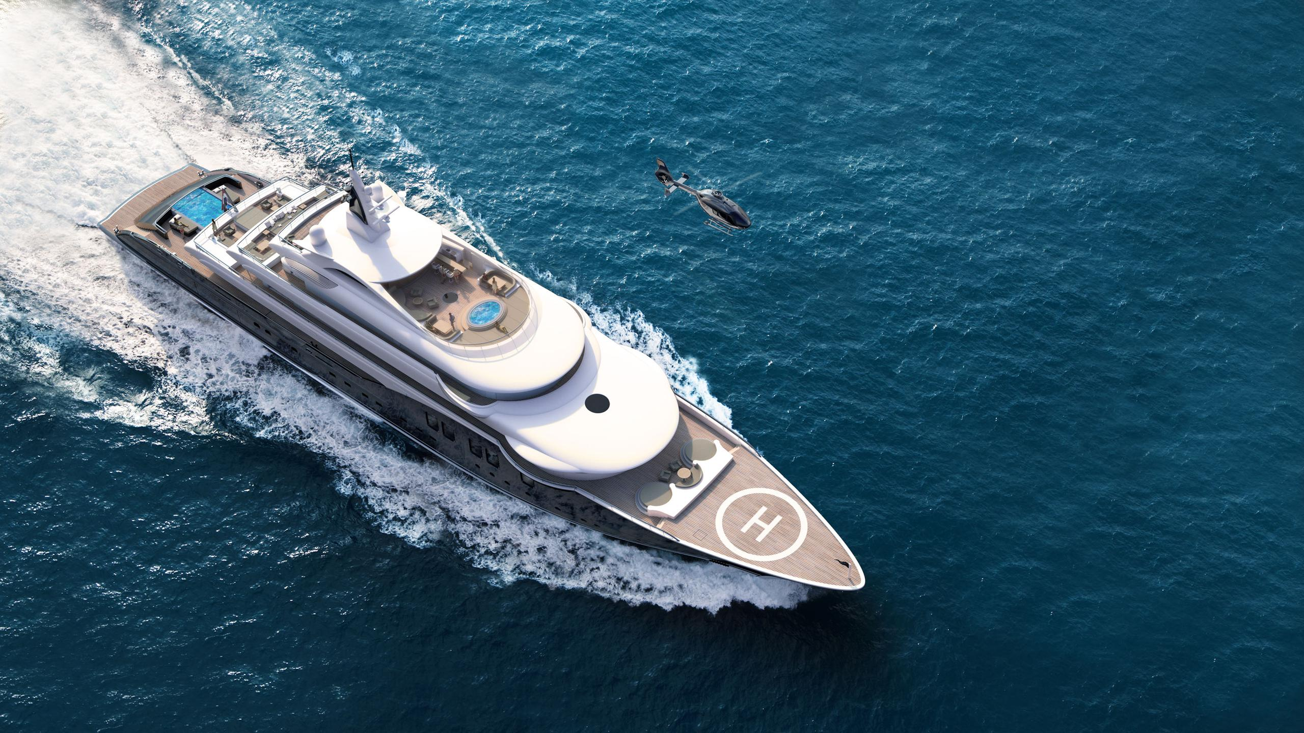 icon 280 motoryacht icon 84m 2020 rendering aerial