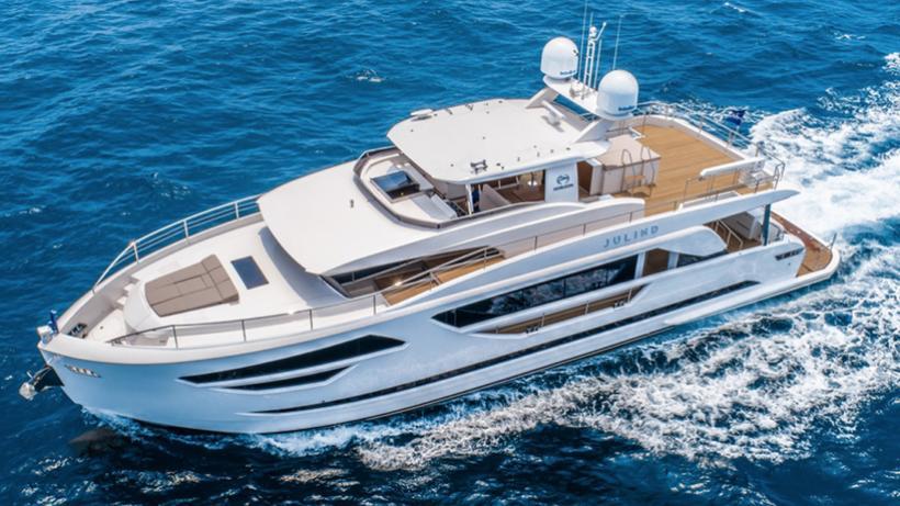 julind motoryacht horizon fd85 27m 2018 half profile