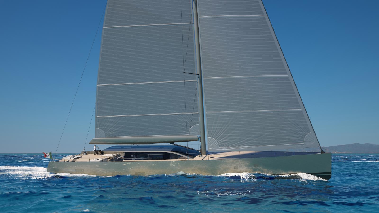 evolution sailing yacht perini navi 42m 2020 rendering