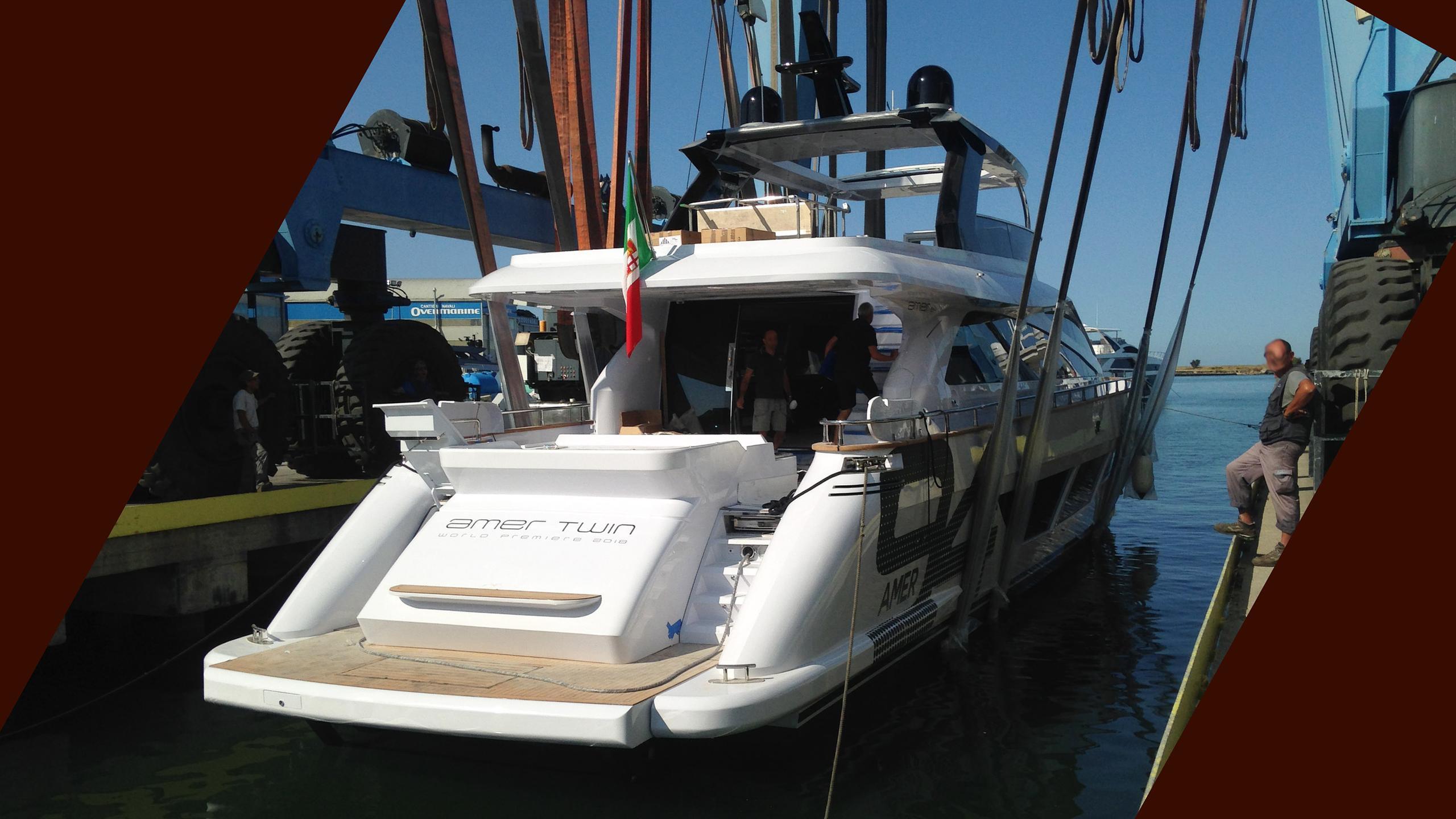 amer 94 hull 15 motoryacht permare 2018 28m launch stern