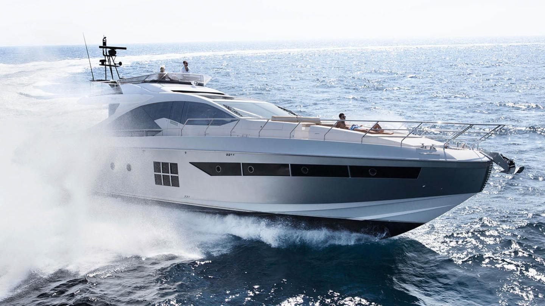Azimut 77s motoryacht azimut yachts 24m 2018 half profile sistership