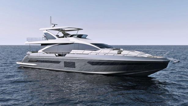 Grande 25 Metri motoryacht azimut yachts 27m 2018 half profile sistership