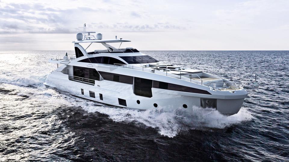 Grande 32M motoryacht azimut yachts 32m 2020 rendering sistership