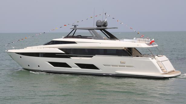 Ferretti 920 motoryacht Ferretti 29m 2018 side profile sistership