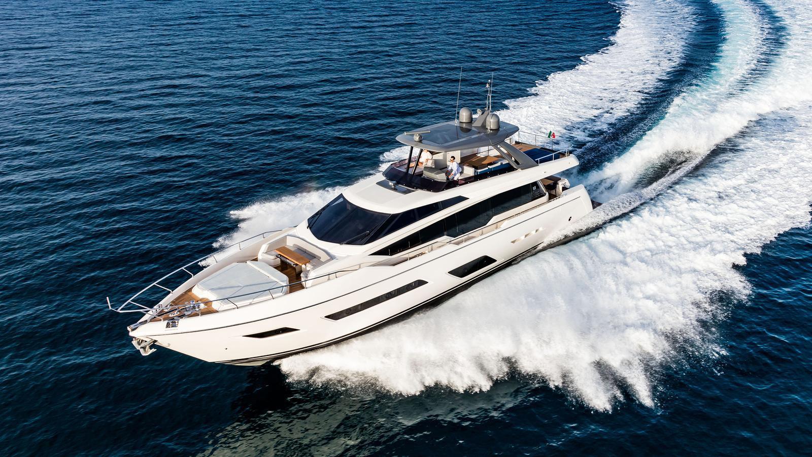 Ferretti 780 motoryacht Ferretti 24m 2019 running shot sistership