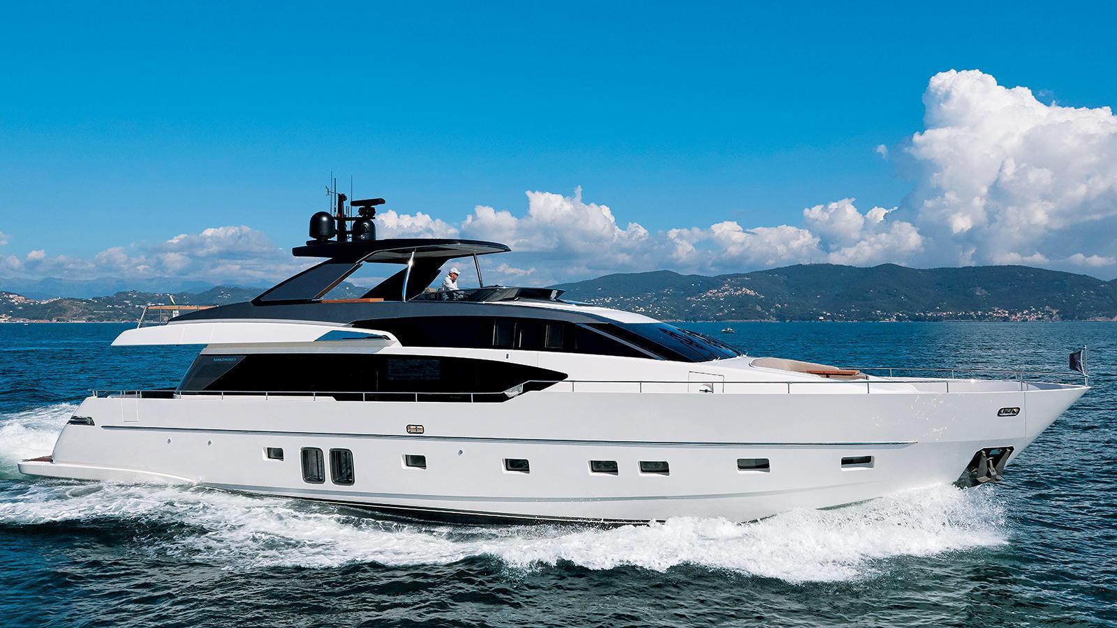 SL86 motoryacht sanlorenzo 27m 2019 side profile sistership