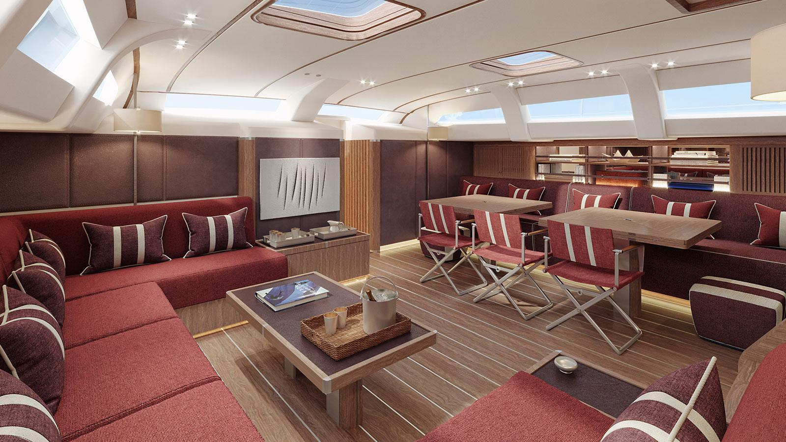 Swan 98 sailing yacht Nautor's Swan 30m 2020 saloon sistership