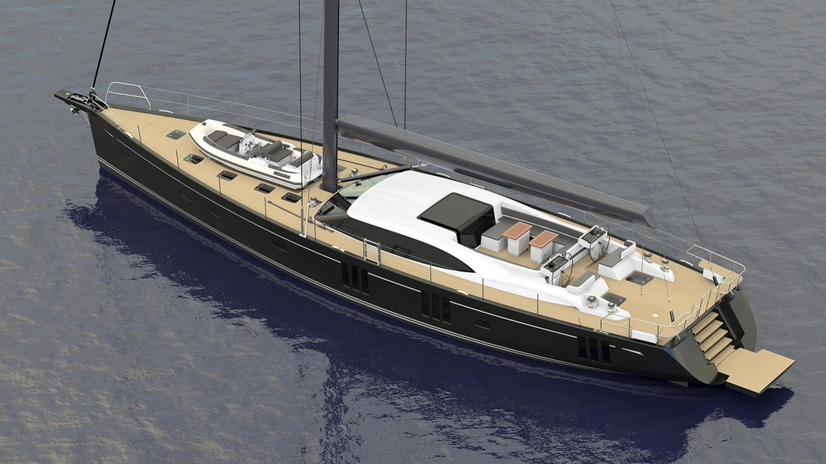 Oyster 885 sailing yacht Oyster 27m 2019 rendering sistership