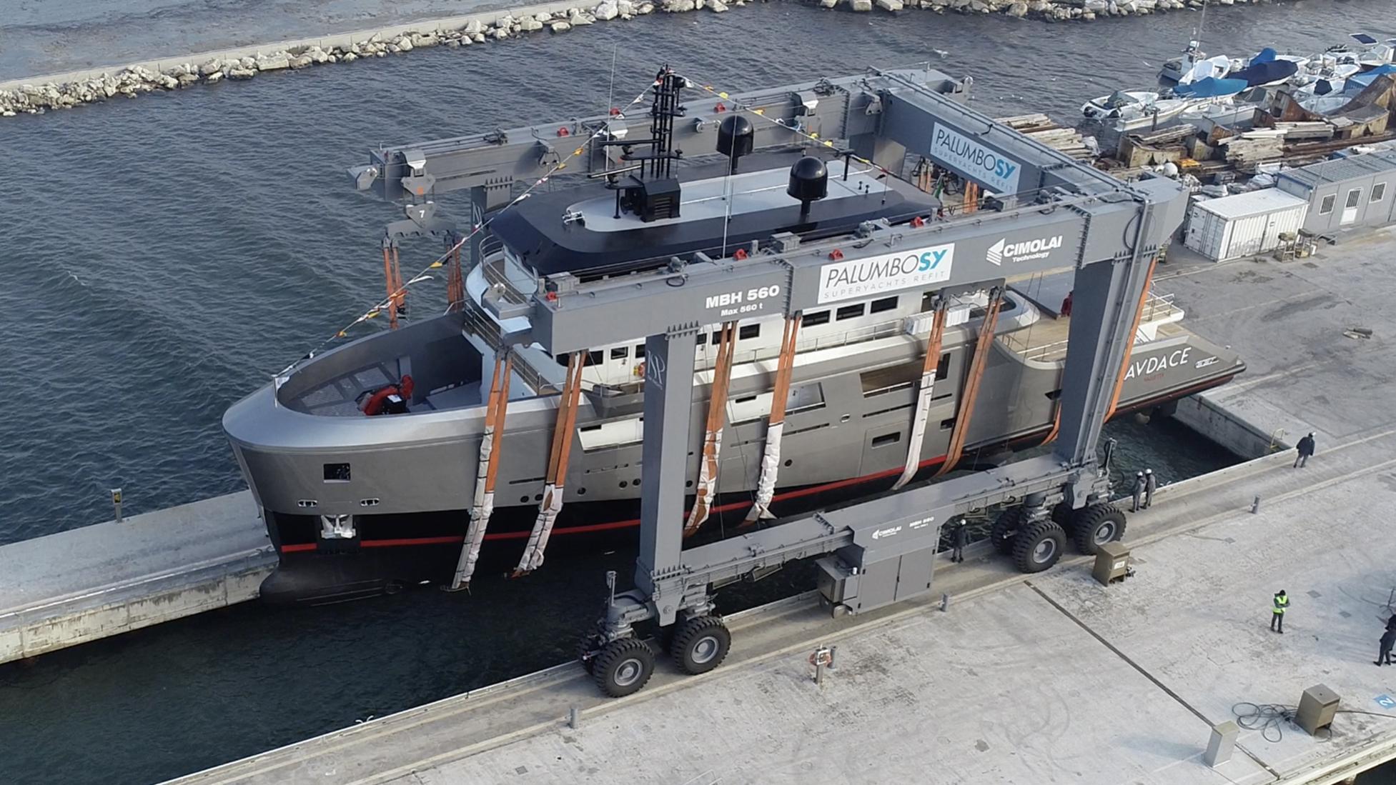 audace k42 motoryacht cantiere delle marche 42m 2019 launch half profile