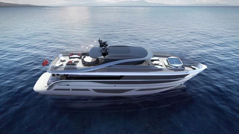 Princess X95 motoryacht Princess 29m 2020 side profile sistership