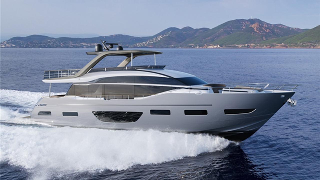 Princess Y85 motoryacht Princess 26m 2019 side profile sistership