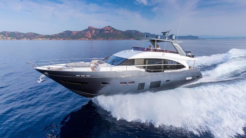 Princess Y75 motoryacht Princess 25m 2019 side profile sistership