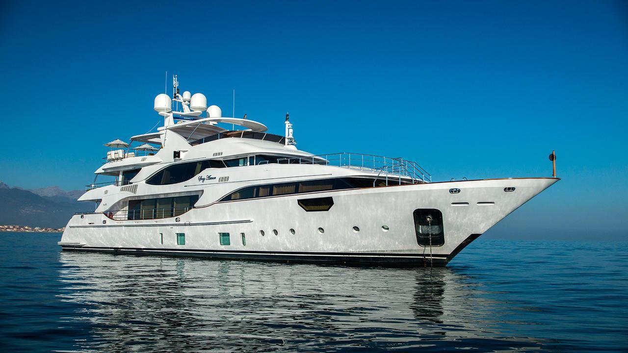 Skyler motoryacht Benetti 42m 2018 half profile sistership