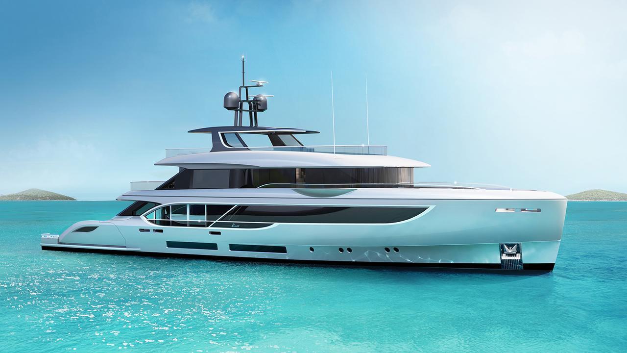 BO101 motoryacht Benetti 40m 2020 side profile sistership