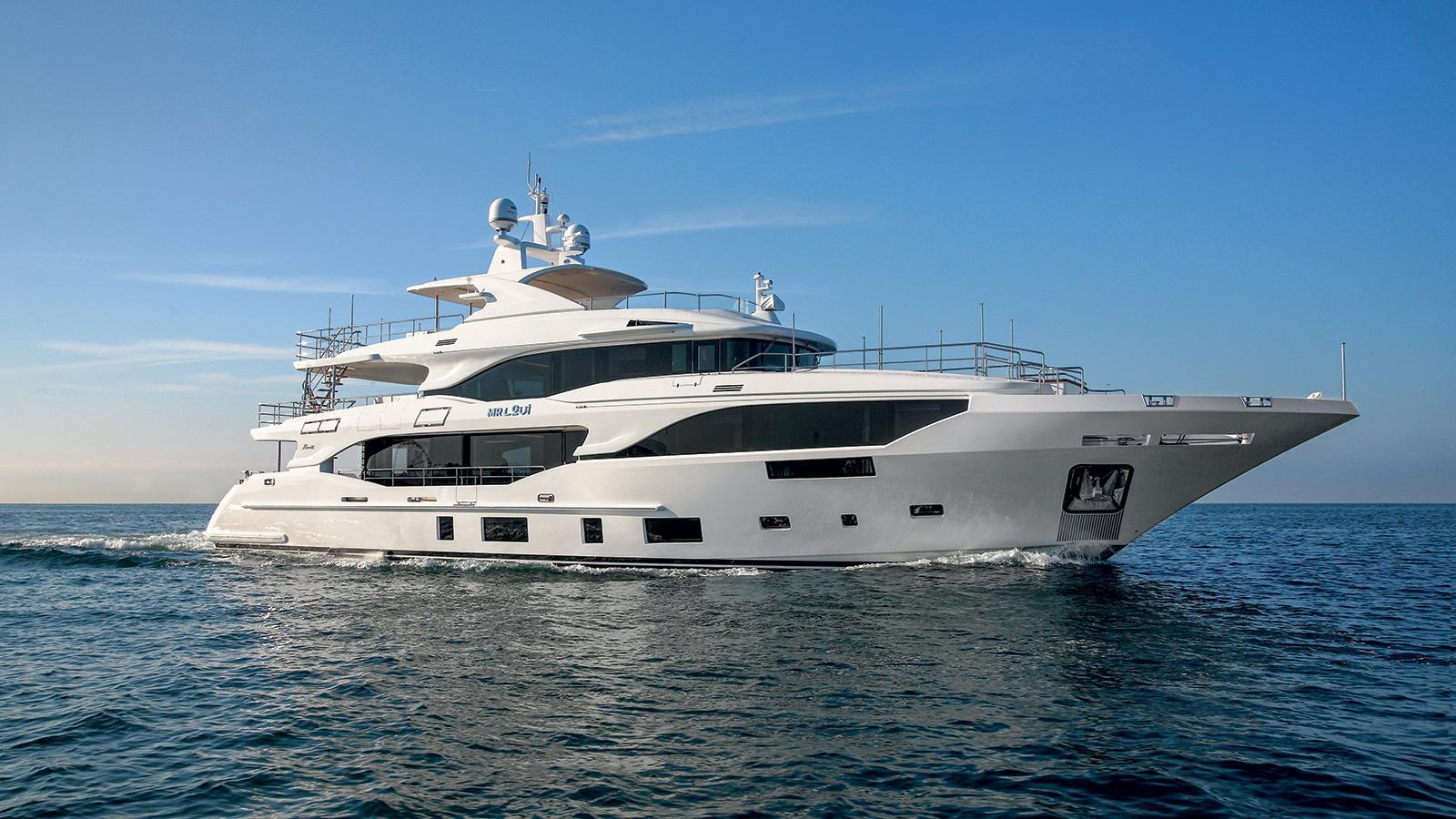 Mediterraneo 116 motoryacht Benetti 35m 2019 side profile sistership