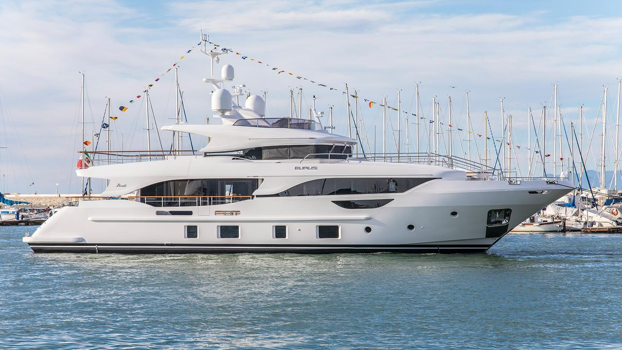 Benetti Delfino 95 motoryacht Benetti 29m 2020 side profile sistership