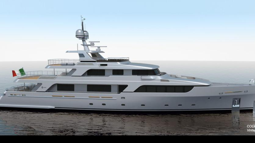 C 122 motoryacht Codecasa 43m 2019 side profile sistership