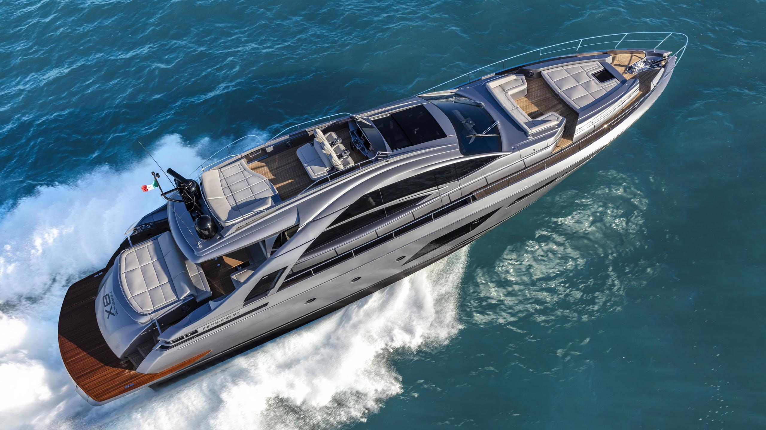 pershing 8x motoryacht pershing 25m 2019 aerial