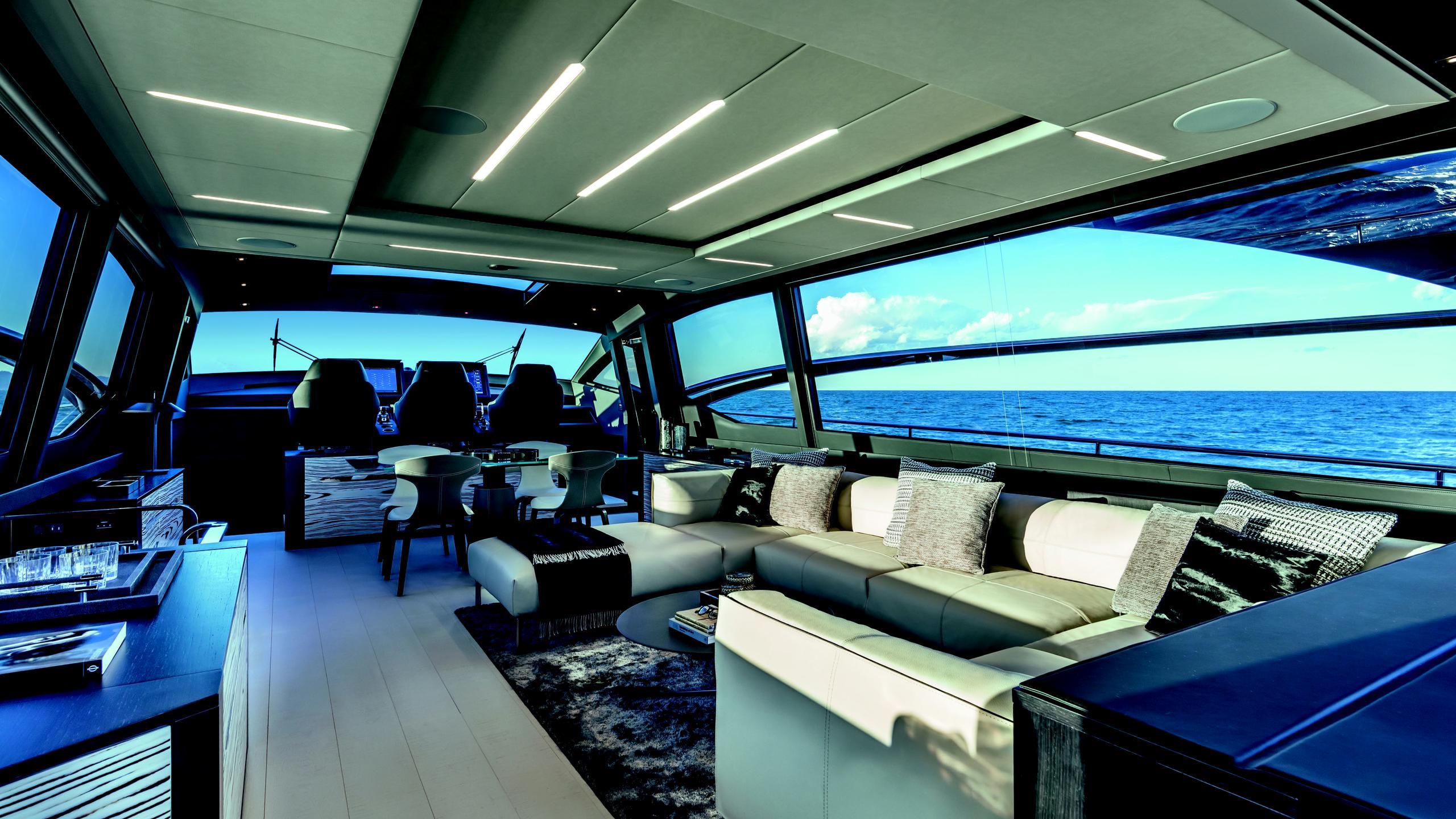 pershing 8x motoryacht pershing 25m 2019 saloon