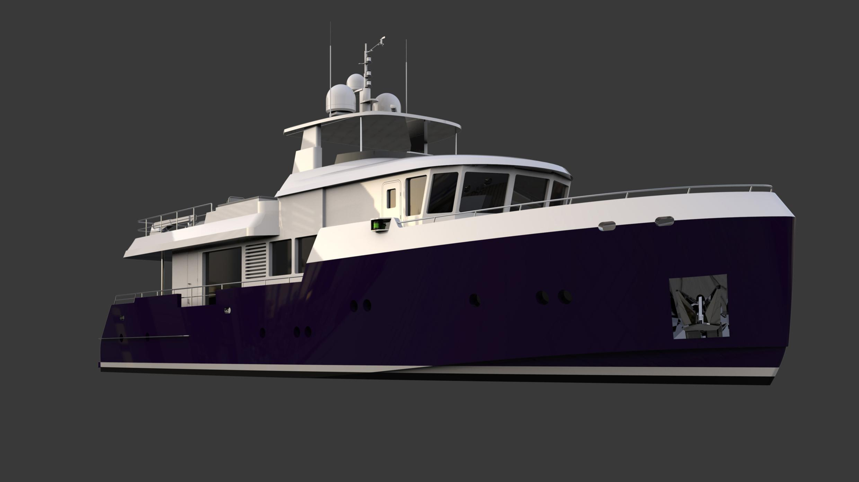 fleetwood motoryacht tansu yachts typhoon 28m 2020 rendering