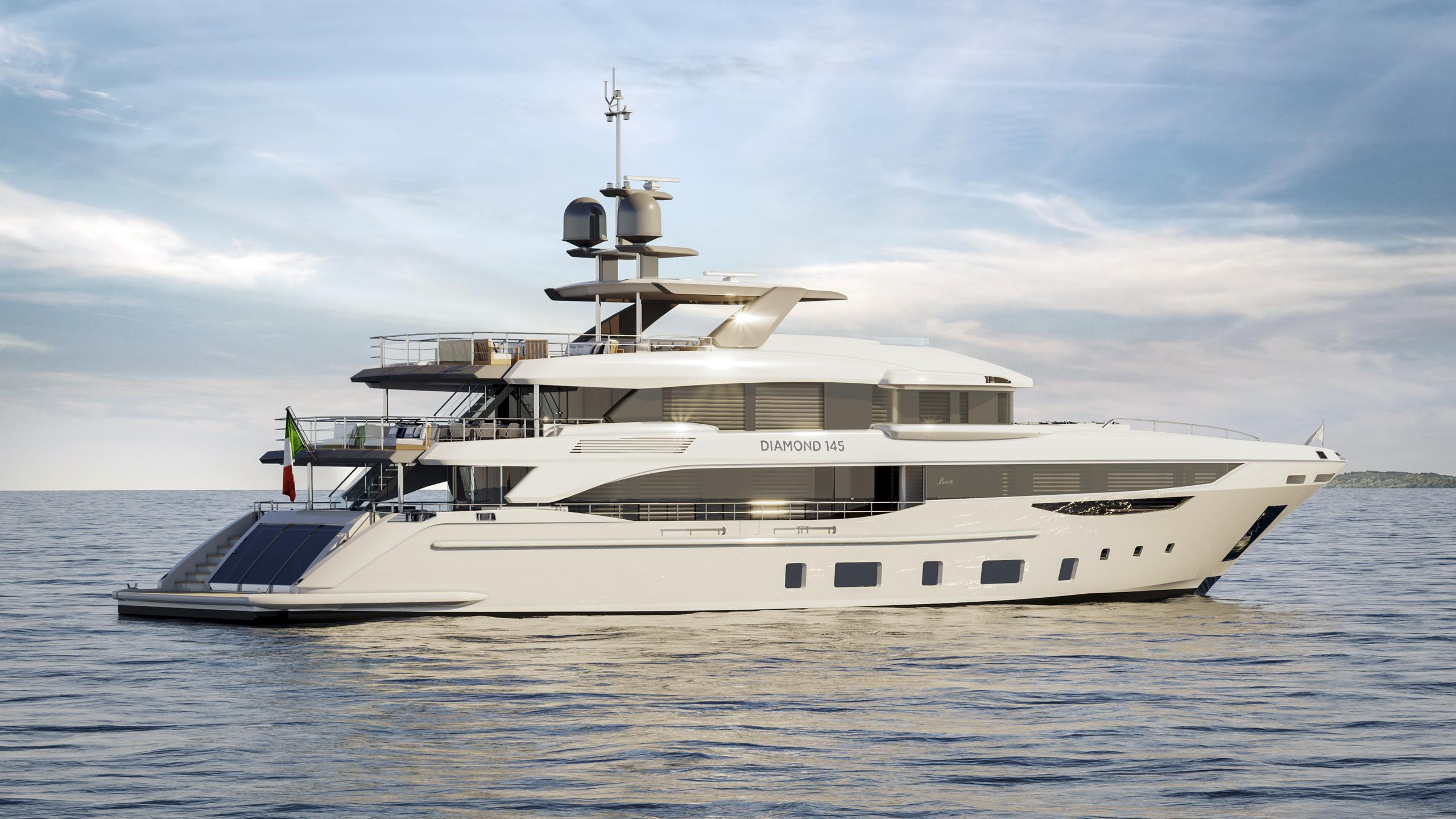 BP001 motoryacht Benetti 44m 2020 side profile sistership