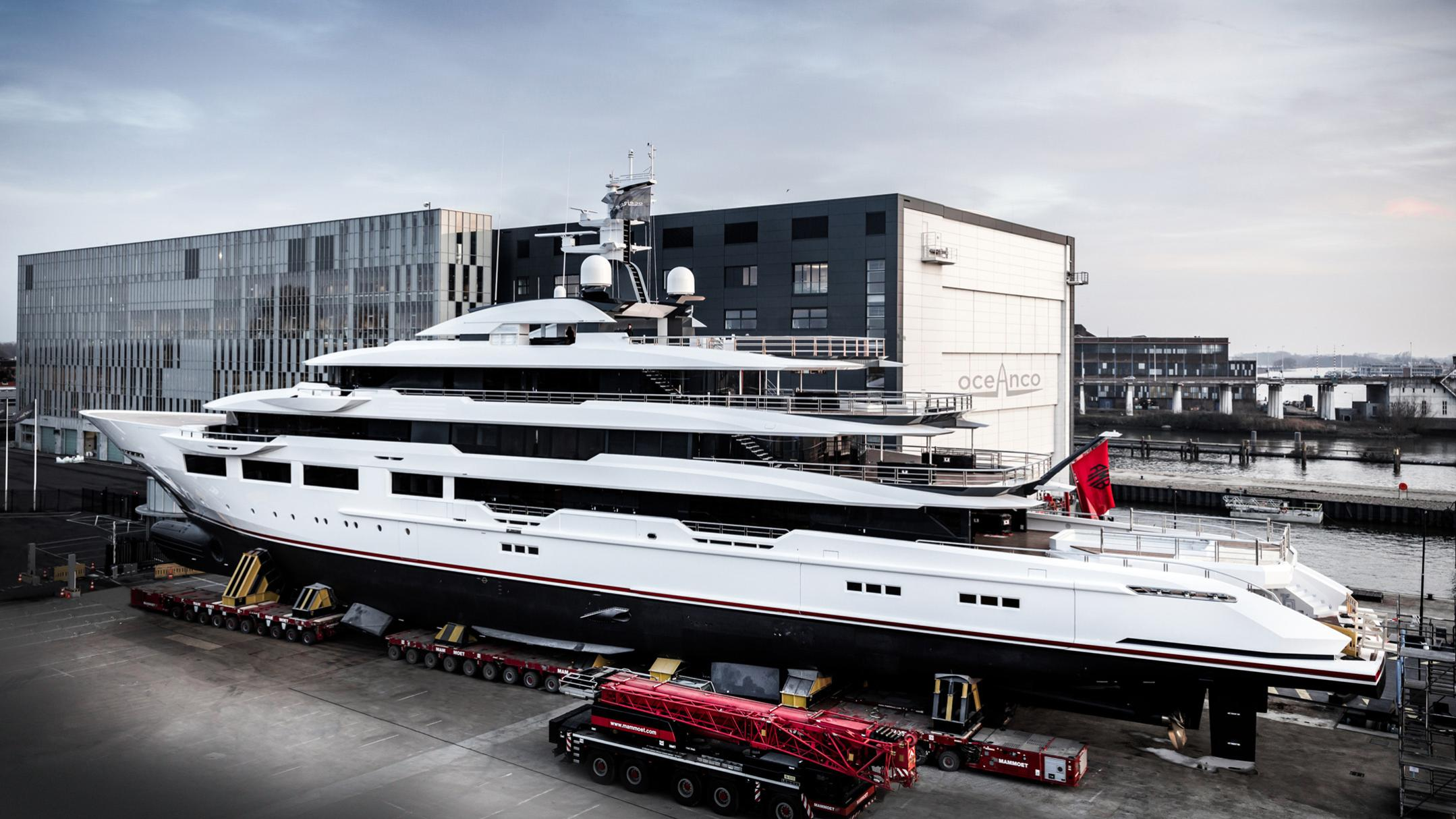 dreamboat y716 motoryacht oceanco 90m 2019 launch half stern