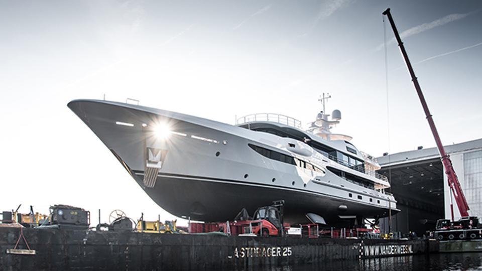papa motoryacht amels le180 55m 2019 launch half profile