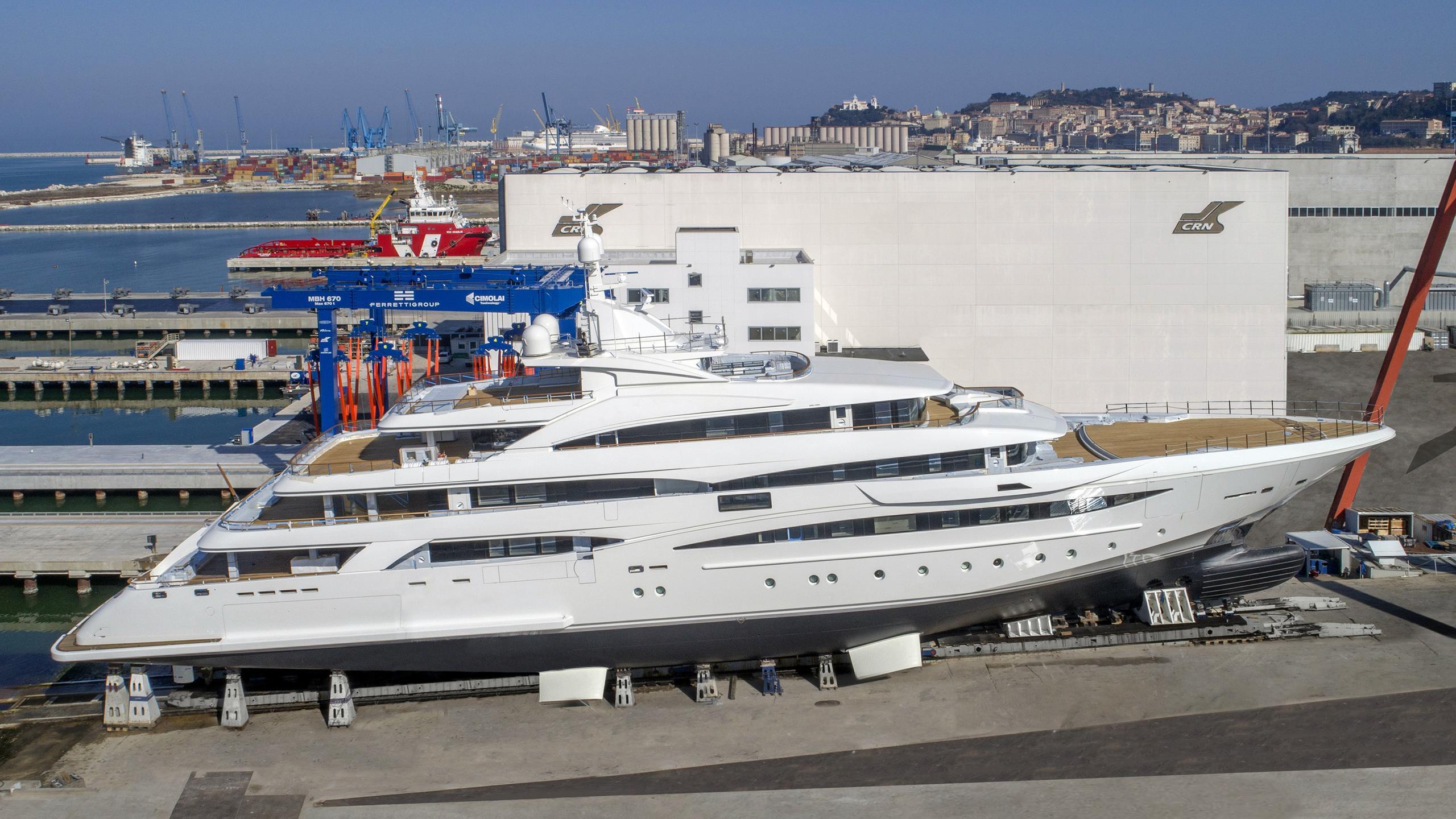 mimtee motoryacht crn yachts 135 80m 2019 slipway profile