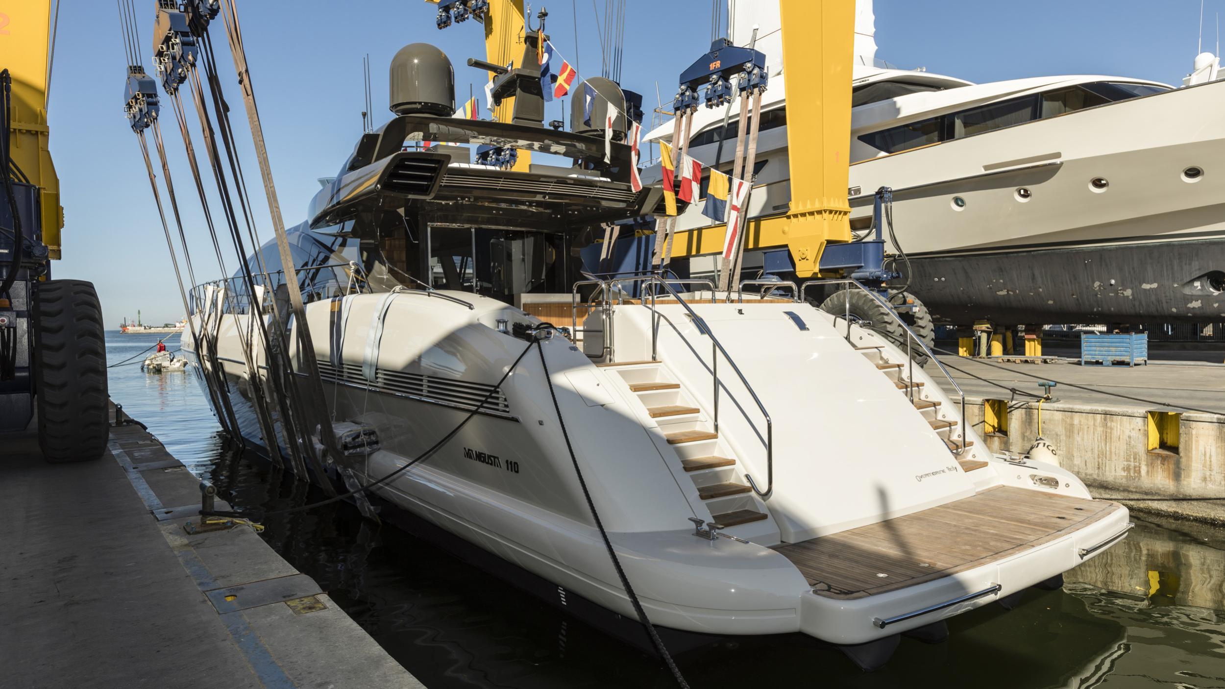 mangusta 110 hull 4 motoryacht overmarine 34m 2019 launch half stern