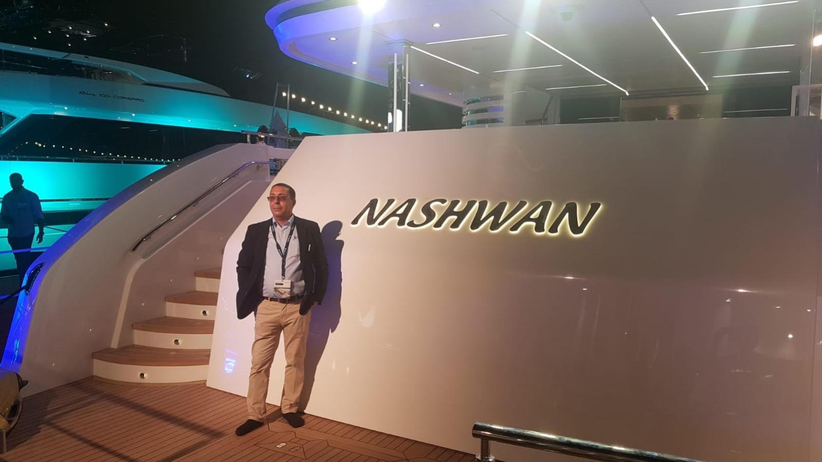 nashwan motoryacht gulf craft majesty 140 43m 2019 christening
