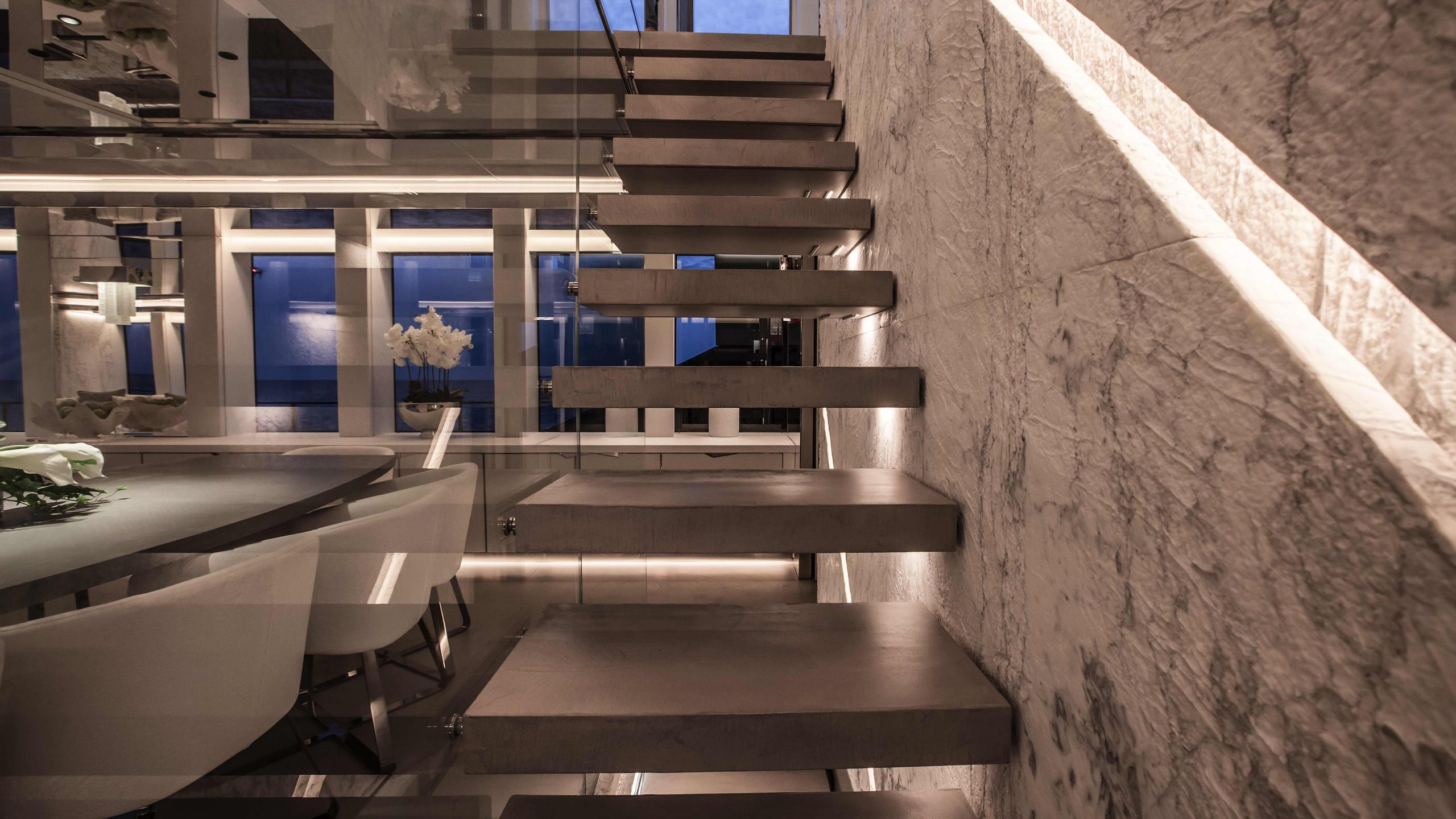 forever logica 147 motor yacht 2014 45m stairs