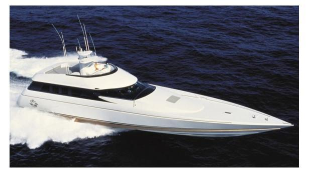 The superyacht Gentry Eagle