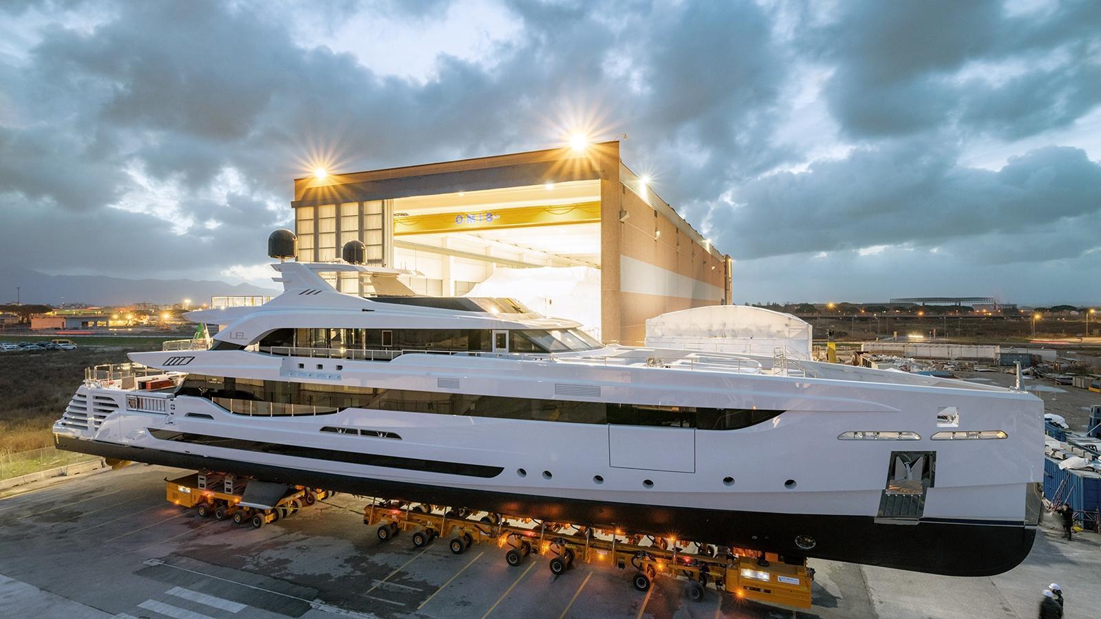 Rossinavi superyacht Lel at launch